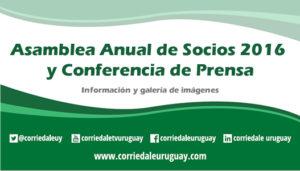 Asamblea Anual de Socios 2016 y Conferencia de Prensa