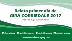 Relato primer día Gira Corriedale 2017