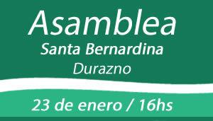 Invitamos a la asamblea nacional de productores el 23 de enero en Santa Bernardina